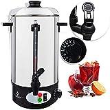 KESSER Glühweinkessel Edelstahl 8L Glühweinkocher Glühweinautomat Heißgetränkeautomat Wasserkocher Heißwasserspender Kocher Einkochautomat